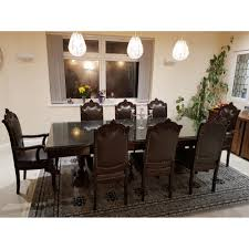 8 chair dining table solid sheesham chinioti classic 8 chair dining table set