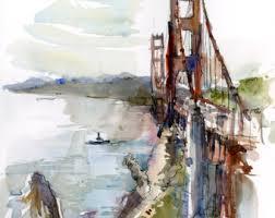 san francisco golden gate bridge california print of a