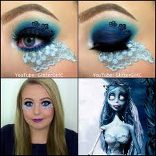 Makeup Looks For Halloween by Corpse Bride Makeup Look Halloween Glittergirlc