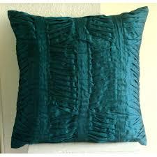 Square Sofa Pillows by Royal Peacock Green 55x55 Cm Square Decorative Throw Royal