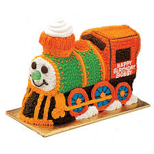 this choo choo train cake is sure to bring a smile to the face of