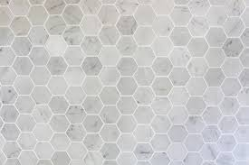 How To Install A Marble Hexagon Tile Backsplash Just A Girl And - Hexagon tile backsplash