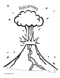 top volcano coloring page image clip art library