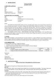 sample incident report letter hospital professional resumes