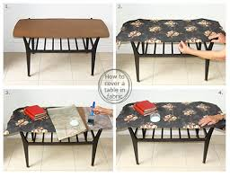 How To Upcycle A Sixties Table And Cover It In Fabric Audenza