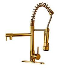 down brass kitchen faucet