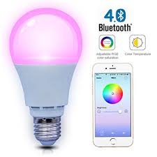 light bulbs controlled by iphone amazon com shyu smart bluetooth led light bulb smartphone