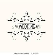 wedding calligraphy divider ornamental flourish vector stock
