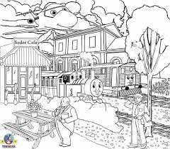 train station clipart coloring pencil color train station