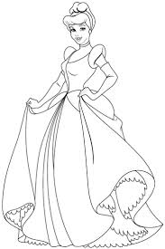 Disney Princess Outline Free Printable Coloring Pages