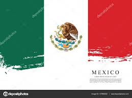 Mwxican Flag Mexican Flag Banner Template U2014 Stock Vector Igor Vkv 137862522
