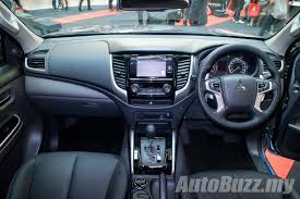 adventure mitsubishi 2017 interior mitsubishi triton updated adds esc and 7 airbags priced from