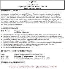 Desktop Support Technician Resume Example by 9 It Support Technician Cv Biology Resume