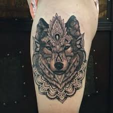 collection of 25 geometric wolf tattoo