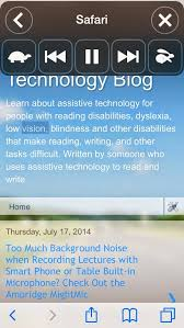 Assistive Technology For Blindness And Low Vision Assistive Technology Blog 2014