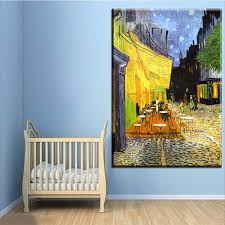 xh1040 the cafe terrace on the place du font b forum b font canvas paintings canvas jpg