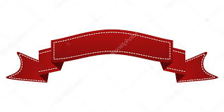 logo ribbon embroidered ribbon isolated on white can be used for banner