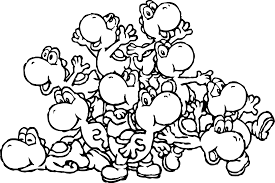 printable 24 mario and yoshi coloring pages 5256 mario and yoshi