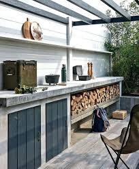 comment construire une cuisine exterieure cuisine exterieure beton cuisine deco construire cuisine