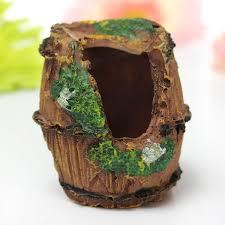 Mini Halloween Tree Ornaments by Mini Retro Barrel Reproduction House Cave Aquarium Fish Tank Decor