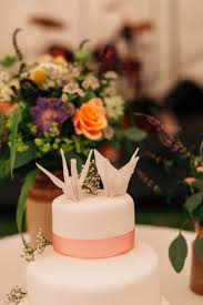Origami Wedding Cake - bohemian origami marquee wedding in guernsey whimsical