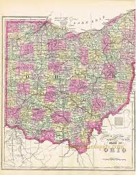 State Of Ohio Map by County And Township Map Of The State Of Ohio Sold