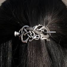 hair barrette viking hair barrette the enchanted forest