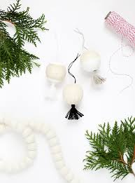 diy wooden tassel ornaments the merrythought