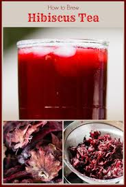 dried hibiscus flowers hibiscus tea brewed at home from dried hibiscus flowers