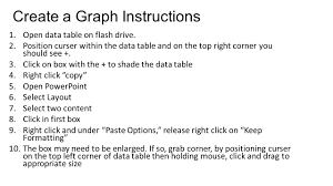 Rightcorner Create A Graph Instructions 1 Open Data Table On Flash Drive 2