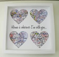 customized wedding gift map heart personalized wedding gift custom wedding gift any