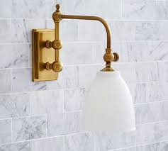 single sconce bathroom lighting covington articulating single sconce brass finish 6 5 wide x 14
