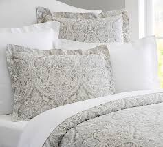 Bedspreads And Duvet Covers Mackenna Paisley Duvet Cover U0026 Sham Blue Pottery Barn