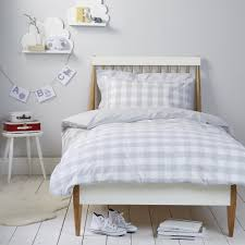 gingham bed linen cool grey the white company home bedroom
