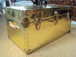 metal steamer trunk coffee table home decorations appearance