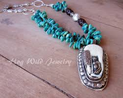 pendant necklace turquoise images Handcrafted artisan turquoise horse nepalese pendant necklace jpg
