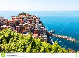 Manarola Italy Map by Scenic View Of Cinque Terre In Italy Stock Photo Image 80951082