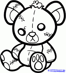 drawing of a teddy bear how to draw a teddy bear drawingforall