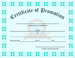 ffa certificate template school promotion certificate template school certificate
