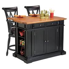 kitchen appealing wooden feature black kitchen island on concrete