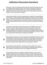 addiction discussion questions preview mft pinterest