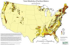 Oregon Map Usa by Map Of Water Hardness In The United States Water Hardness In The