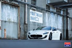 custom maserati granturismo convertible liberty walk maserati granturismo in white gets custom stance and