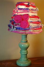 shabby chic lamp shade with ge align pm light the tiptoe fairy