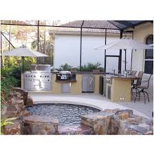 backyards terrific outdoor kitchen on wooden deck 68 backyard
