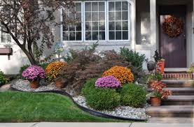 Landscape Curb Appeal - four fall and autumn home curb appeal photos for inspiration
