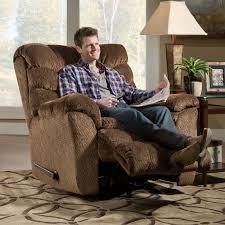 chair impressive appealing dark brown leather immons rocker recliner