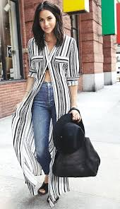 5 ways to wear a striped maxi dresses during winter