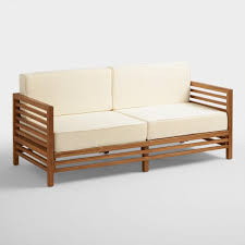 wood praiano outdoor occasional bench world market