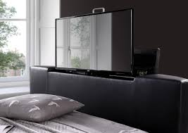 chelsea leather black tv bed double leather beds beds